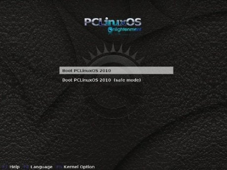 PCLOS Enlightenment Grub Menu